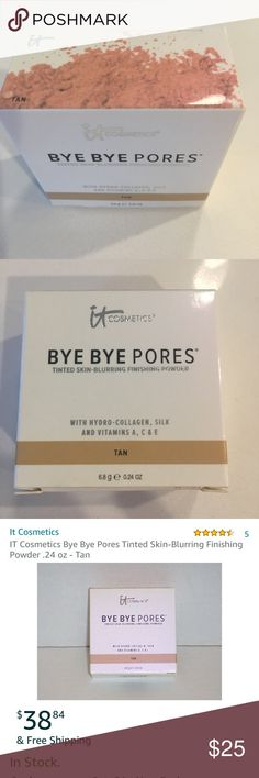 it Cosmetics it Cosmetics Bye-Bye Pores Tinted Skin-Blurring Finishing Powder in Tan. Never opened, still sealed and in the box it Cosmetics Makeup Face Powder