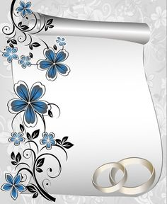 Dilia y alex Blank Wedding Invitations, Engagement Invitation Cards, Wedding Invitation Vector, Wedding Invitation Background, Wedding Background, Invitation Card Design, Floral Invitation, Blue Background Patterns, Flower Background Wallpaper
