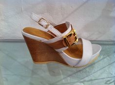 White 'Allegra' wedges by Francesca.