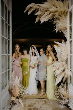 """The aesthetic of this bride's wedding was inspired by the tea party in """"Alice in Wonderland,"""" and her bridesmaids' looks were no exception. Tap to see more from her wedding!"""