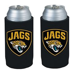 NFL 2013 Football Ultra Slim Beer Can Holder Koozie 2Pack  Pick your team Jacksonville Jaguars -- Check out the image by visiting the link.