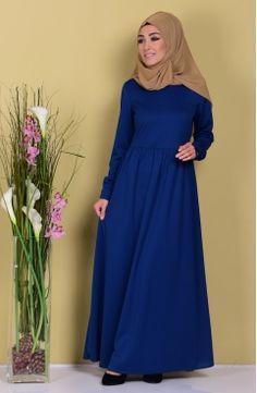 Sefamerve, Pileli Elbise 8054-03 İndigo