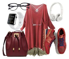 """""""Park visit"""" by melady0202 on Polyvore featuring мода, H&M, Michael Kors, New Balance, Beats by Dr. Dre и Tiffany & Co."""