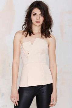 Cameo Don't Wait Asymmetrical Bustier Top - Cameo | Bustiers + Bodysuits