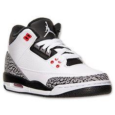 Boys' Grade School Air Jordan Retro 3 Basketball Shoes| FinishLine.com | White/Black/Infrared 23
