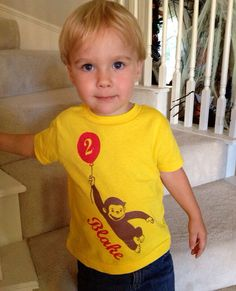 Personalized Curious Monkey inspired Shirt by TheKraftyMommy, $15.00