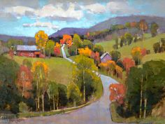 """Old Orchard Road"" by Vermont Artist Peter Huntoon"