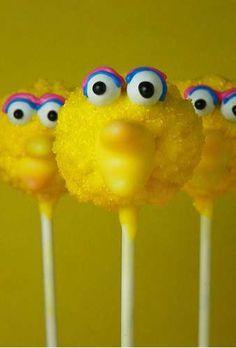 Sesame Street Big Bird Cake Pops