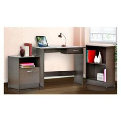 Office Desk & Cabinet Set by 4D Concepts. $130.90. Polyurethane paper finish and E1 Carb board. Box comes packaged to meet the ISTA packaging standards. Includes 1 file cabinet with 1 drawer that opens on metal drawer runners and holds standard letter size papers, 1 desk with drawer with metal drawer runners and 1 bookcase with 2 shelves all in one box. Rich Espresso finish. Comes ready to assemble for any room in your home. Includes 1 file cabinet with 1 drawer that opens on met...