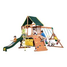 Backyard Discovery Rockin' Adventure Residential Wood Playset with Swings $849