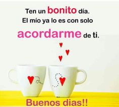 Buenos dias!!❤❤
