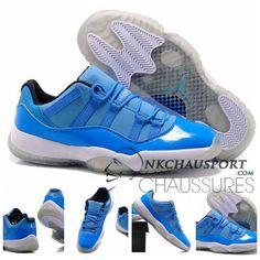 Nike Air Jordan 11 | Classique Chaussure De Basket Homme Cuir Bleu-1