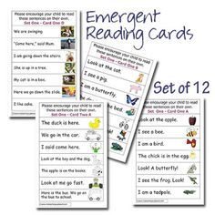 Home Reading Cards to support PM Starters Emergent Readers