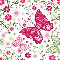 borboleta vetor de fundo padrão