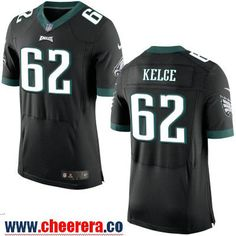 Men's Philadelphia Eagles #62 Jason Kelce NEW Black Alternate Stitched NFL Nike Elite Jersey