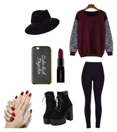 """""""Untitled #12"""" by vieveg on Polyvore featuring Maison Michel, Smashbox, women's clothing, women's fashion, women, female, woman, misses and juniors"""