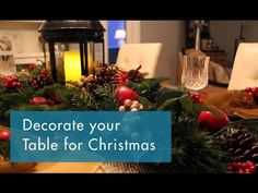 Decorate your Table for Christmas - Christmas Decorating Ideas