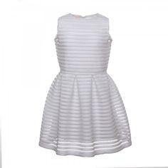 ABITO BIANCO A RETE - Esclusivo abito bianco scamiciato della nuova linea di abbigliamento Bambina e Teenager firmata Elsy Girl. #annameglio #elsy #abitocerimonia #abbigliamentobimbaonline