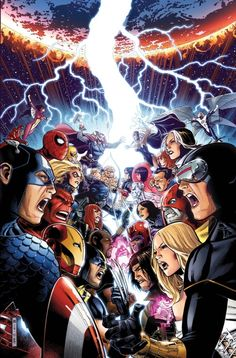 Avengers vs X-Men. Good mini series. Not as one sided as you'd think if you read it.