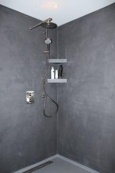 stucwerk onder de douche