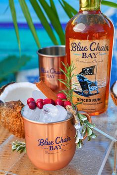 There's snow place like a cocktail in our ⁠Blue Chair Bay Rum mule ✨ ⁠ ⁠⁠ ✔️ 2 oz. Blue Chair Bay® White Rum⁠ ✔️1 oz. ginger beer⁠ ✔️.5 oz. fresh lime juice⁠ ✔️.5 oz. simple syrup⁠ ✔️whole cranberries, for garnish⁠ ⁠ Mix all of the ingredients and pour over ice. Garnish with cranberries to keep it festive.⁠ #bluechairbay #BCBHappyHour #spicedrum
