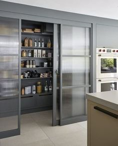 30 Stylish Kitchen Pantry Ideas 2020 (For Cool Kitchen . 30 Stylish Kitchen Pantry Ideas 2020 (For Cool Kitchen) - Dovenda Some of us include a pantry into our kitchen layout. A pantry helps to keep required various items from canned foods to aprons. Kitchen Pantry Doors, Kitchen Pantry Design, Modern Kitchen Design, Home Decor Kitchen, Interior Design Kitchen, Kitchen Storage, Pantry Storage, Kitchen Ideas, Storage Room