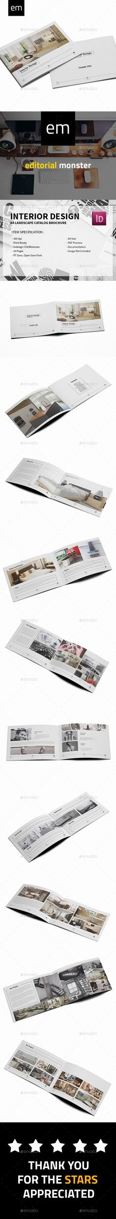 Interior Design InDesign Brochure  Template • Only available here ➝ http://graphicriver.net/item/interior-design-brochure/16525343?ref=pxcr