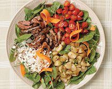 Balsamic Steak & Spinach Dinner Salad