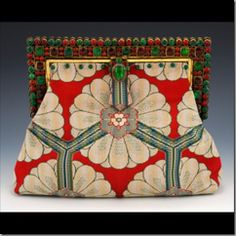 Indian Antique Art- Deco glass beaded handbag