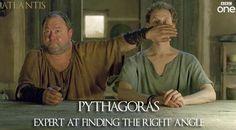 Atlantis Season 1 Episode 11 - Hercules tries to cover Pythagoras' eyes when Jason arrives back at the house naked