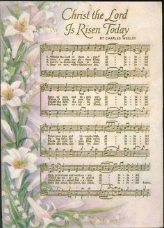 well -loved hymn for Easter. Christ the Lord Is Risen Today Easter Hymns, Resurrection Day, Then Sings My Soul, Easter Parade, Christian Songs, Christian Easter, Vintage Greeting Cards, Vintage Easter, Easter Crafts