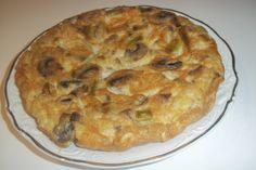 Tortilla+de+ajos+tiernos,+champiñones+y+atún