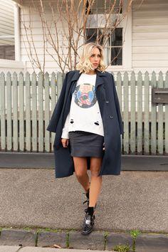 MACEY SWEATSHIRT Tie Dye Sweatshirt, Fashion Labels, Leather Skirt, Shop Now, Campaign, Sweatshirts, Skirts, Shopping, Clothes