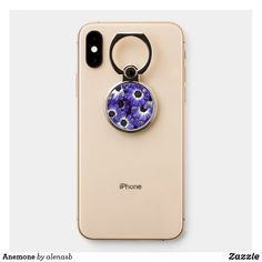 Anemone Phone Ring Stand #phoneringstand #anemone #floral #zazzle #afflink Ring Holders, Ring Stand, Iphone, Floral, Flowers