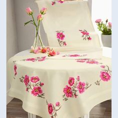 Punto Cruz Gratis Mantel Rosas Genuardis Portal