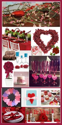 Valentines Day inspiration Board designed by DLG Creative Management