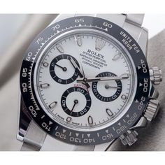 Rolex [NEW-MODEL-NEW-ARRIVAL新貨到港] Daytona 116500LN White Dial Cerachrom Black Bezel at HK$143,000.