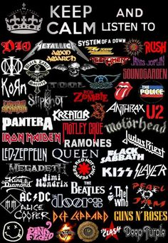 Heavy Metal Shirts, Heavy Metal Bands, Metal Band Logos, Rock Band Logos, 80s Rock Bands, Cool Bands, Emo Wallpaper, Music Collage, Band Wallpapers