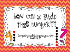 Decomposing and Composing numbers booklets!