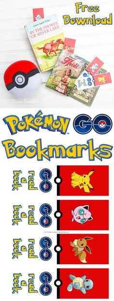Free Pokémon GO Bookmarks Download - Get your child excited about reading with…