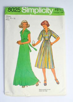 Simplicity Pattern 8025 Pullover Dress in by KrisVintageClothing,