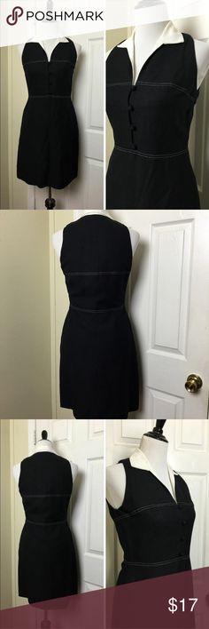 "CLOSET CLEAR OUT!! Ann Taylor Dress Ann Taylor sleeveless V-Neck Dress. Button detail across front. Hidden side zipper. Fully lined. Linen blend. Chest pit to pit 17"", Length approx 35"", Waist 29"". Ann Taylor Dresses"