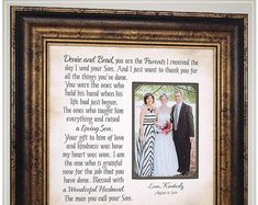 Celebrating the Special Moments in Your LIfe by PhotoFrameOriginals Wedding Gift for Parents of the Bride from Groom, Parents of the Groom Wedding Day Gift for In-Laws<br> Mother Of The Groom Gifts, Bride And Groom Gifts, Father Of The Bride, Mother Gifts, Thank You Gift For Parents, Wedding Gifts For Parents, Wedding Thank You Gifts, Gift Wedding, Drink Bar