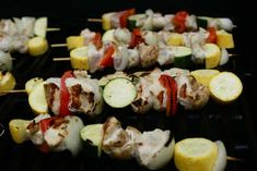 Lemon Pepper Chicken Kebabs with Tzatziki Sauce ~ 31 Days of Grilling Recipes