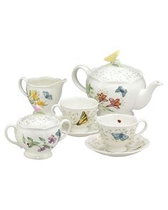 Lenox Butterfly Meadow 9pc Tea Set - I am SO having a tea party this spring/summer