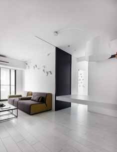 modern apartment Z axis design 5 Decorating Twists Shaping Up a Highly Creative Small Apartment in Taiwan