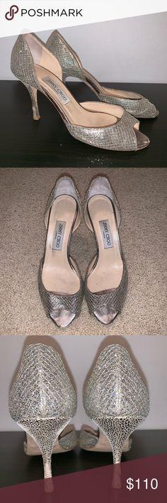 87c19ca89d Jimmy Choo Logan Glitter Heels Size 39 Per-owned Jimmy Choo Logan Heels  Jimmy Choo