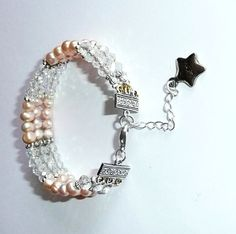 Genuine Freshwater Pink Pearls & Swarovski Crystal by IslandGirl77, $45.00