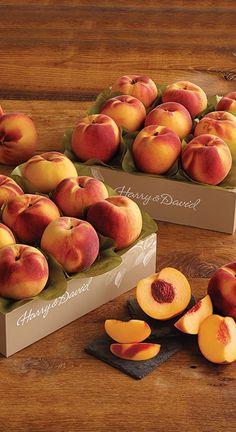 Two boxes of pure summer peach bliss.  Order Oregold Peaches for that foodie friend who loves fresh fruit recipes.