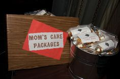 camp theme bar mitzvah - as guests are leaving give them Happy Camper Crunch Munch - golden grahams, marshmallows and chocolate chips